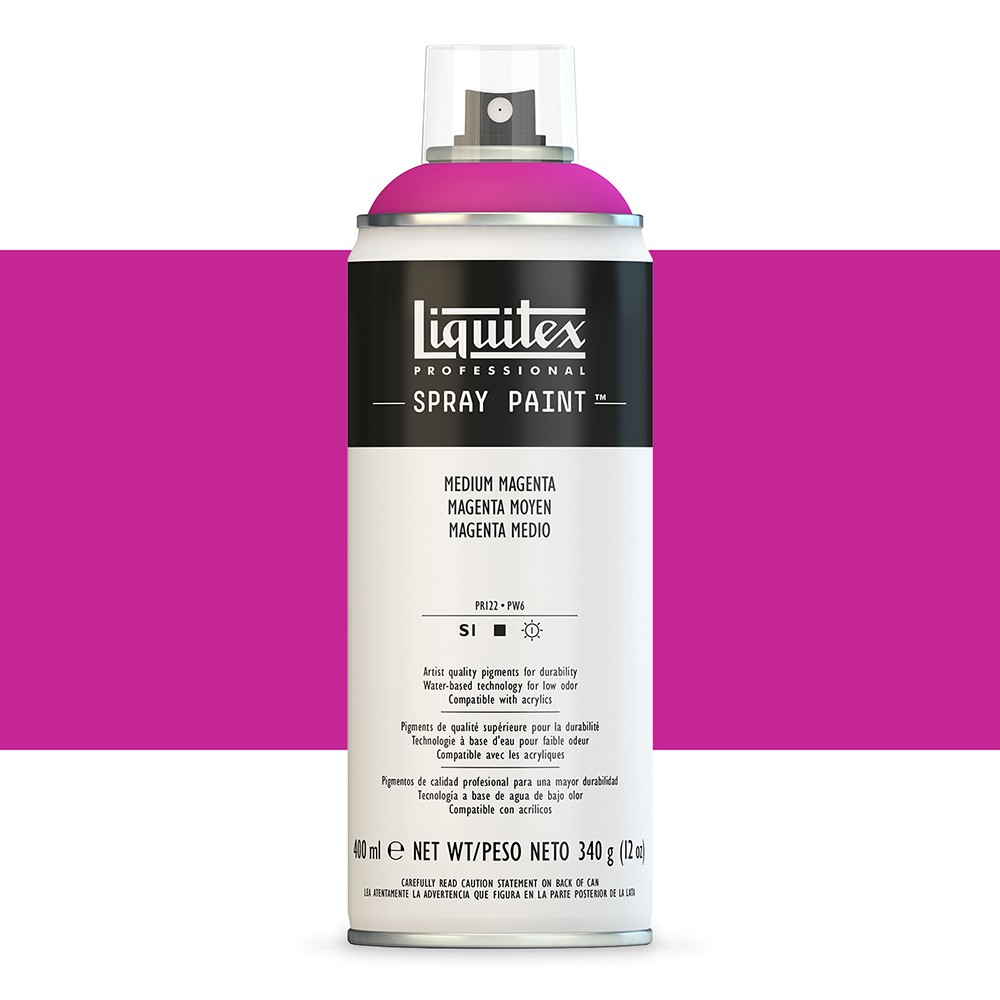 Liquitex : Professional : Spray Paint : 400ml : Medium Magenta : By Road Parcel Only