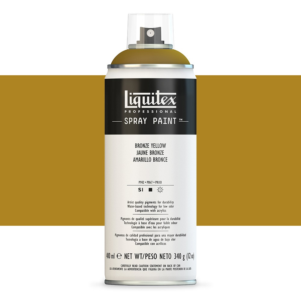 Liquitex : Professional : Spray Paint : 400ml : Bronze Yellow : By Road Parcel Only
