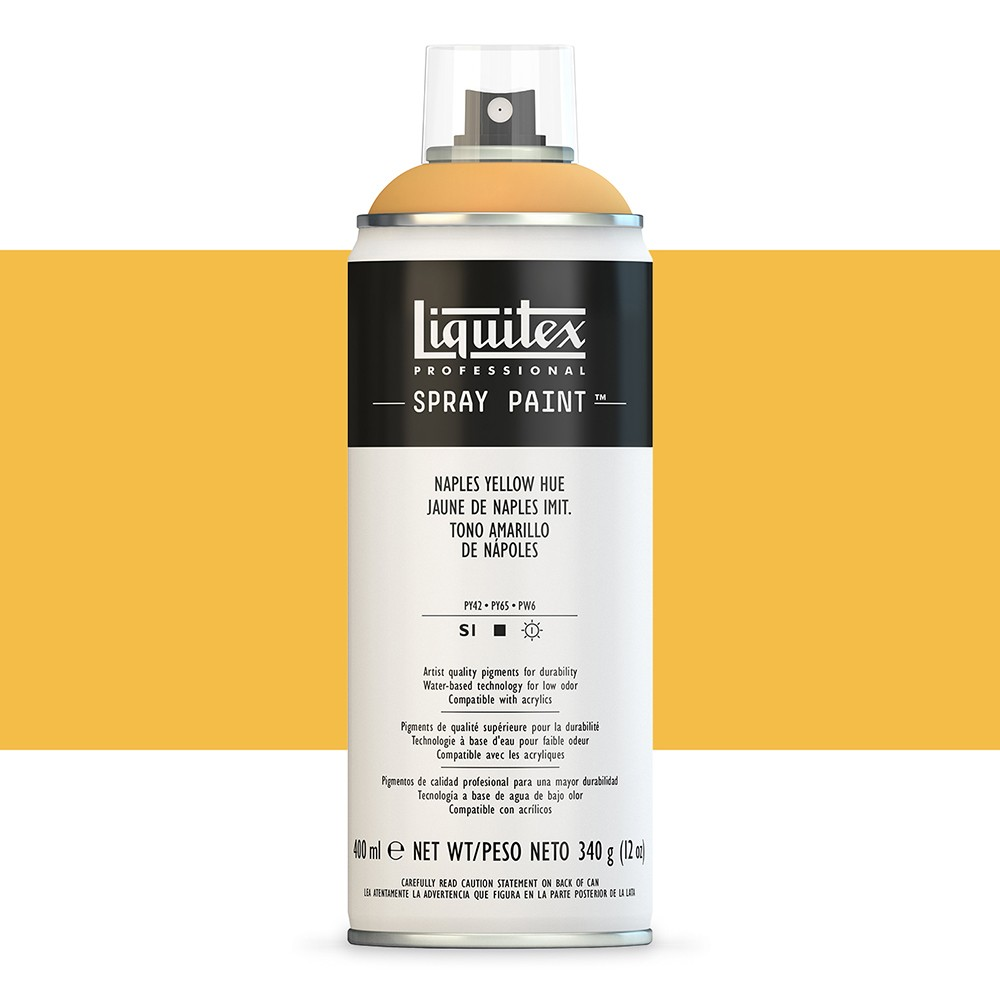 Liquitex : Professional : Spray Paint : 400ml : Naples Yellow Hue (By Road Parcel Only)