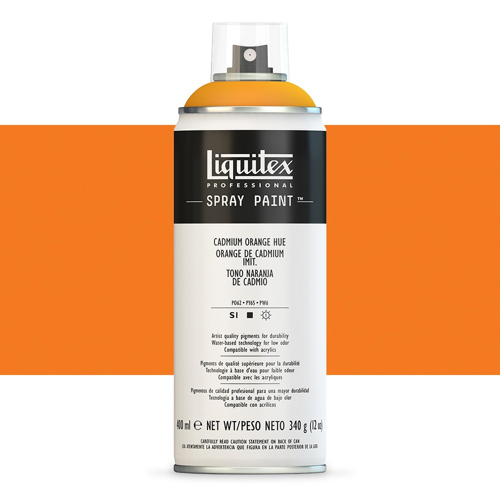 Liquitex : Professional : Spray Paint : 400ml : Cadmium Orange Hue : By Road Parcel Only