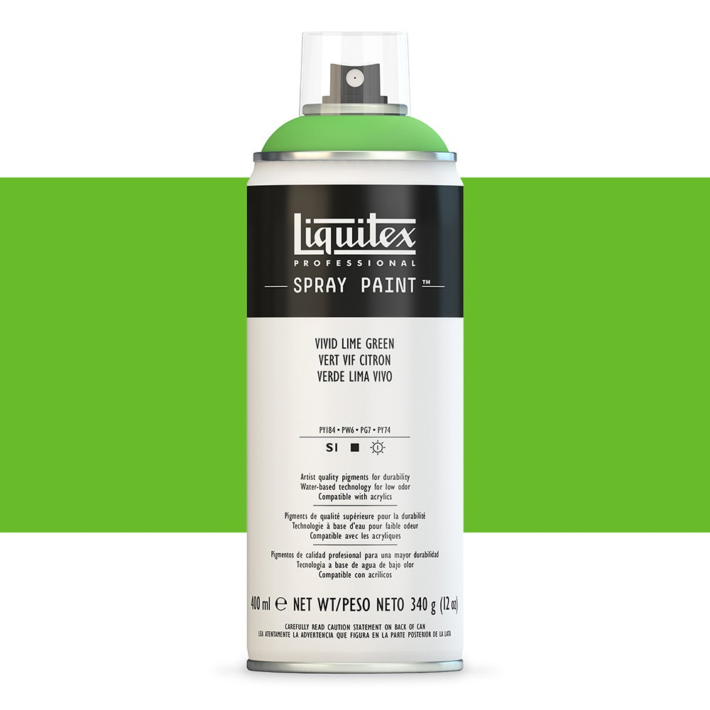 Liquitex : Professional : Spray Paint : 400ml : Vivid Lime Green : Ship By Road Only