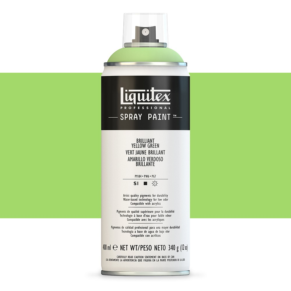 Liquitex : Professional : Spray Paint : 400ml : Brilliant Yellow Green : Ship By Road Only
