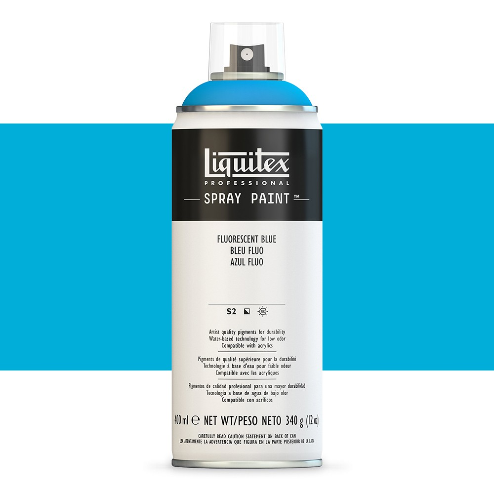 Liquitex : Professional : Spray Paint : 400ml : Fluorescent Blue (By Road Parcel Only)