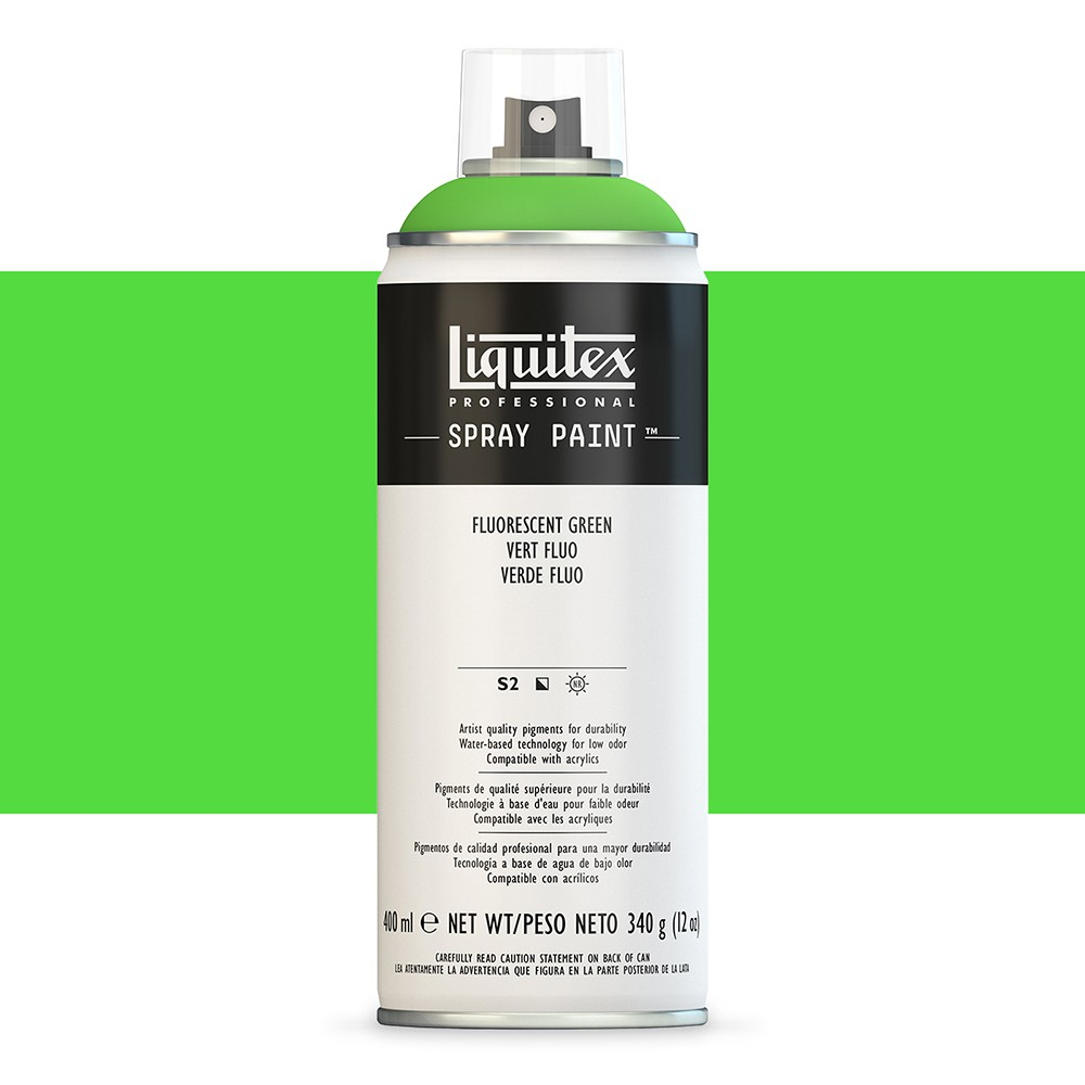 Liquitex : Professional : Spray Paint : 400ml : Fluorescent Green : By Road Parcel Only