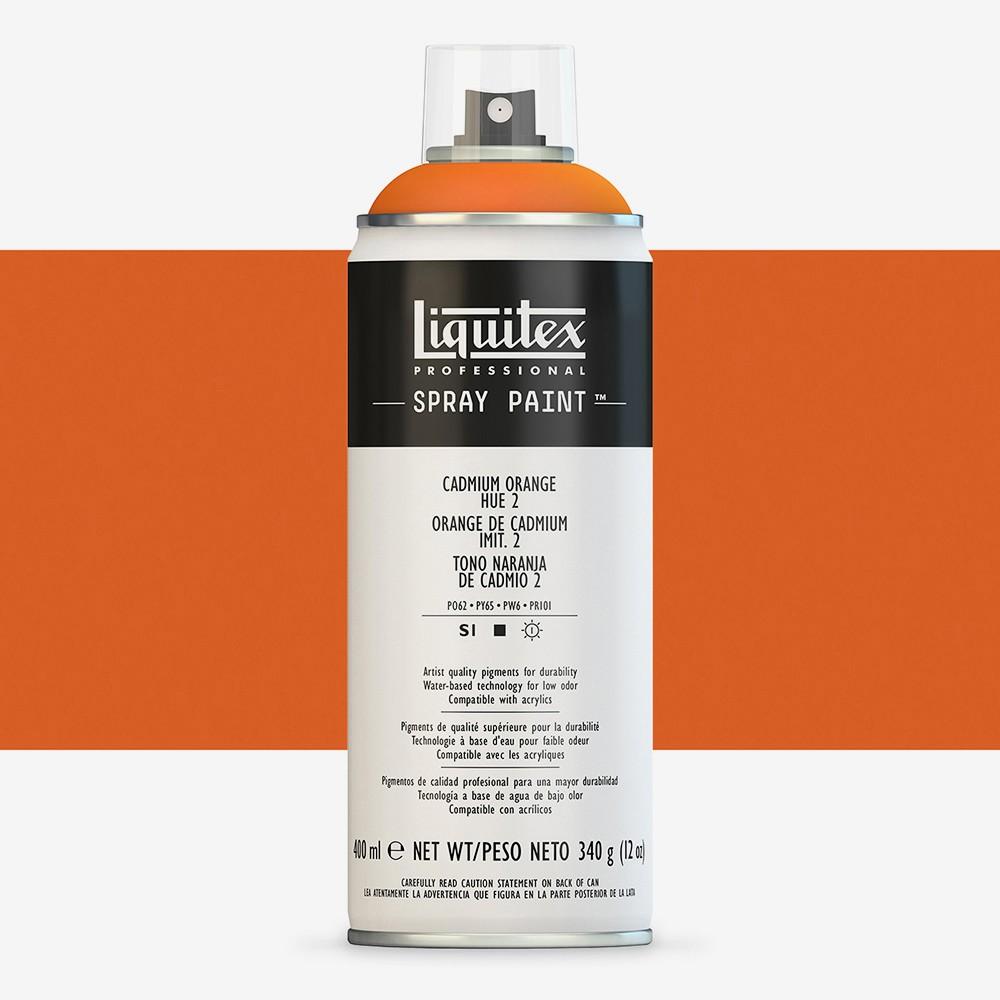 Liquitex : Professional : Spray Paint : 400ml : Cadmium Orange Hue 2 : By Road Parcel Only