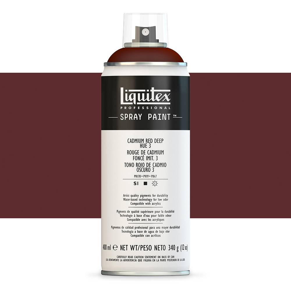 Liquitex : Professional : Spray Paint : 400ml : Cadmium Red Deep Hue 3 (By Road Parcel Only)