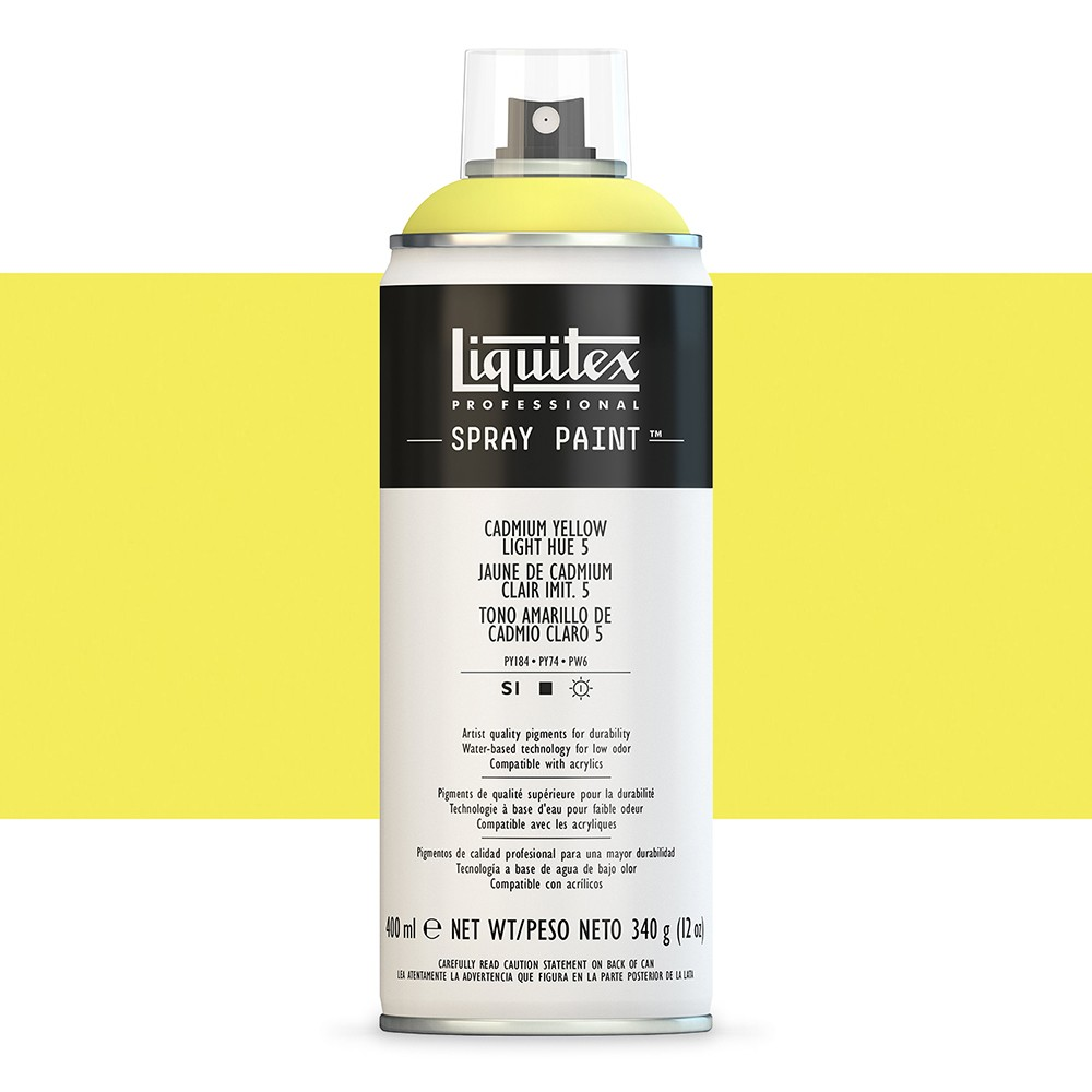 Liquitex : Professional : Spray Paint : 400ml : Cadmium Yellow Light Hue 5 (By Road Parcel Only)