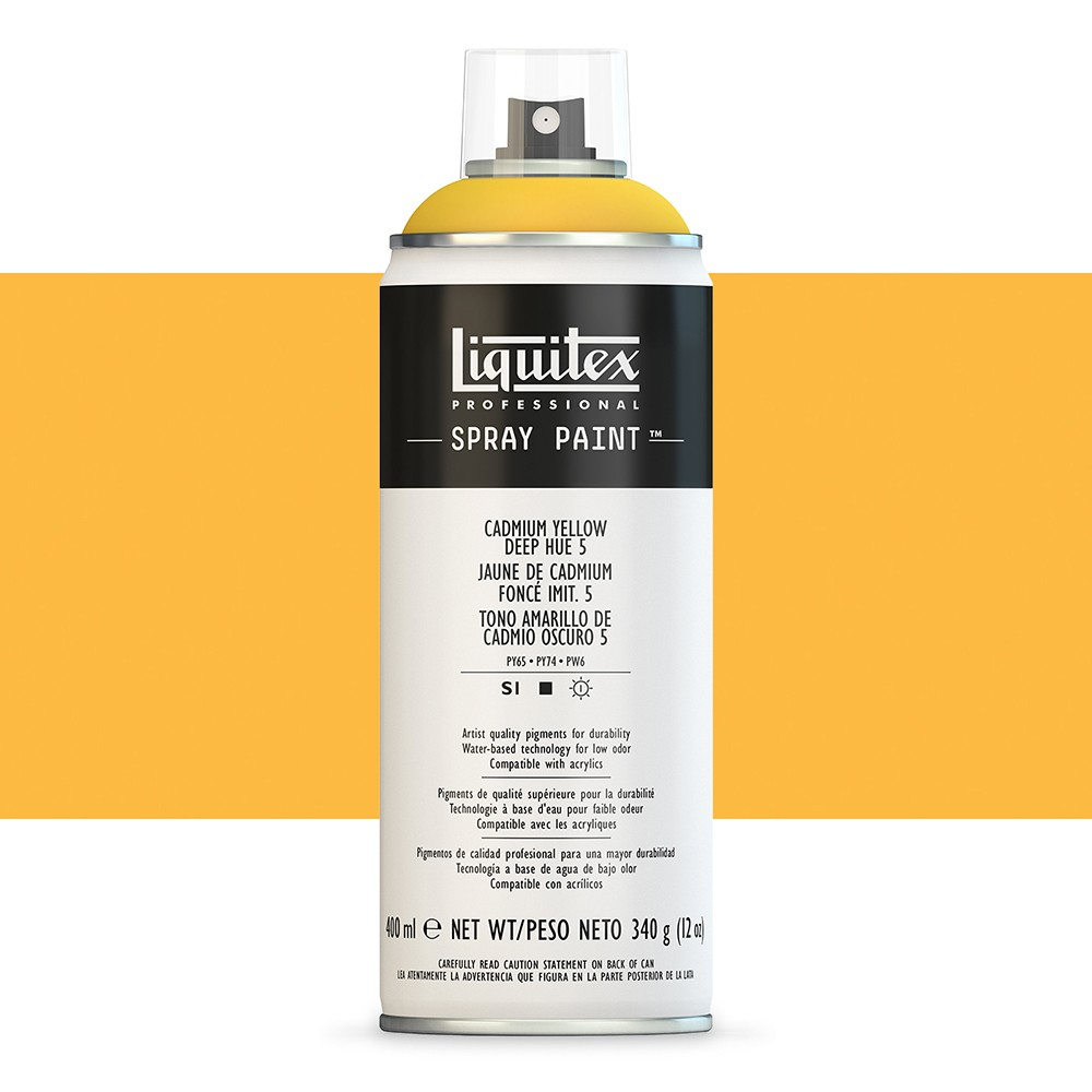 Liquitex : Professional : Spray Paint : 400ml : Cadmium Yellow Deep Hue 5 (By Road Parcel Only)