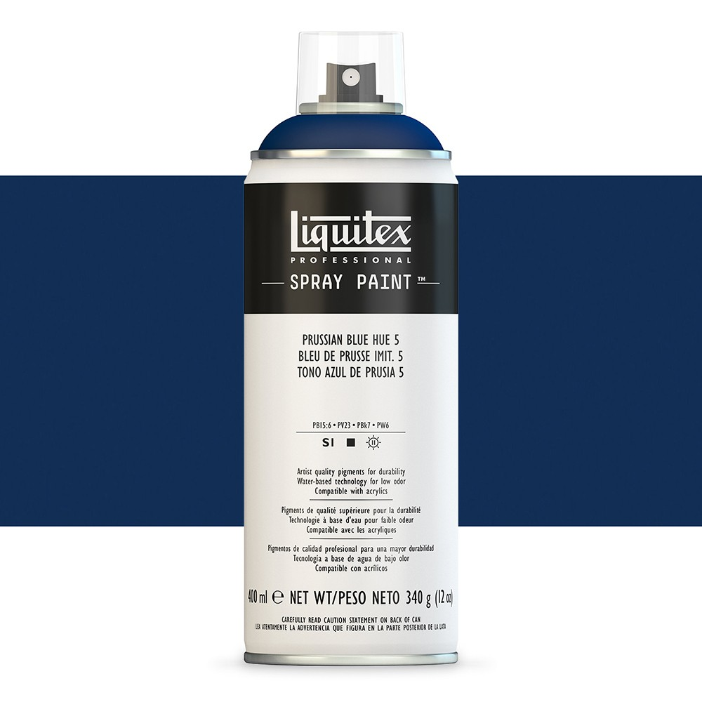 Liquitex : Professional : Spray Paint : 400ml : Prussian Blue Hue 5 (By Road Parcel Only)