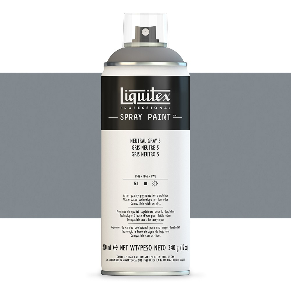 Liquitex : Professional : Spray Paint : 400ml : Neutral Grey 5 (By Road Parcel Only)