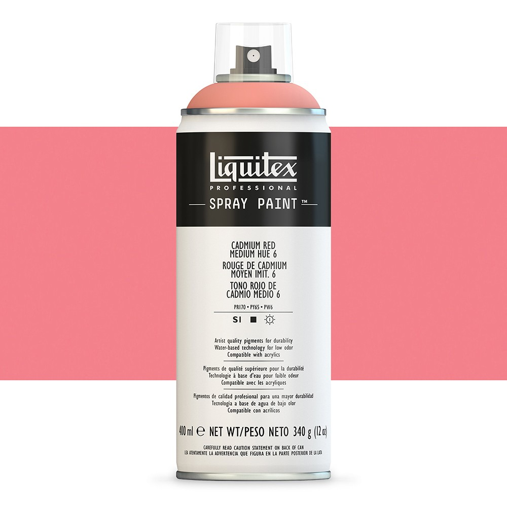 Liquitex : Professional : Spray Paint : 400ml : Cadmium Red Medium Hue 6 (By Road Parcel Only)