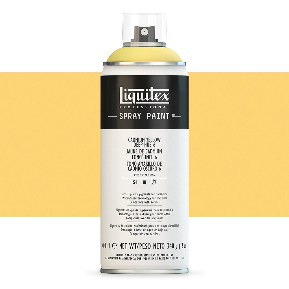 Liquitex : Professional Spray Paint : 400ml : Cadmium Yellow Deep Hue 6 (Road Shipping Only)