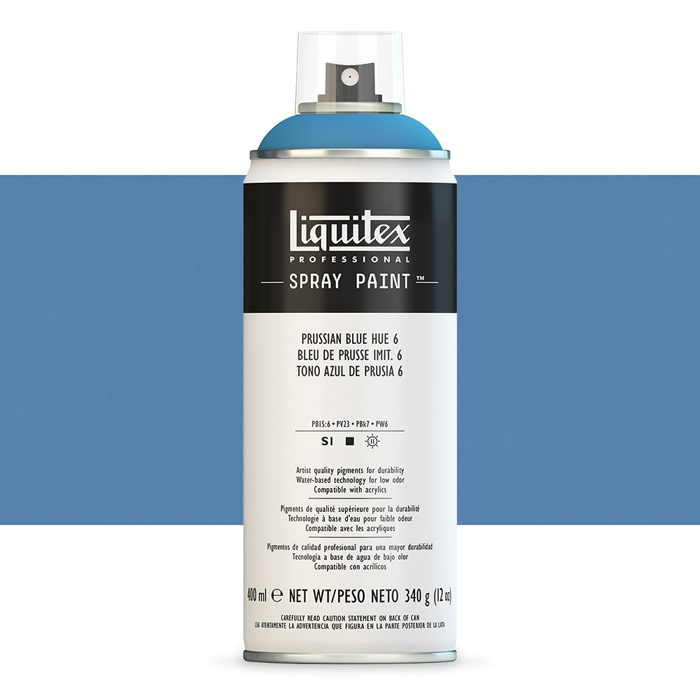 Liquitex : Professional : Spray Paint : 400ml : Prussian Blue Hue 6 : By Road Parcel Only
