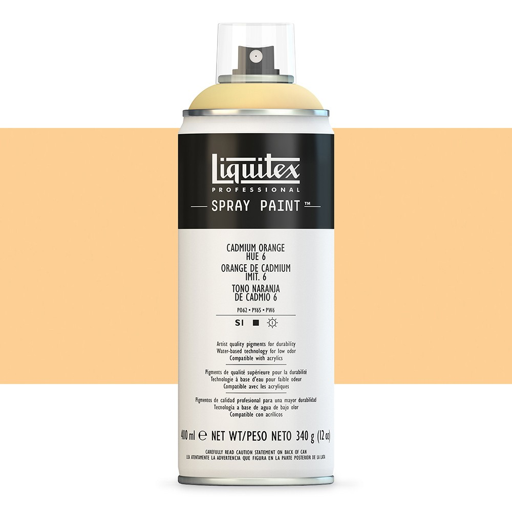 Liquitex : Professional : Spray Paint : 400ml : Cadmium Orange Hue 6 (By Road Parcel Only)