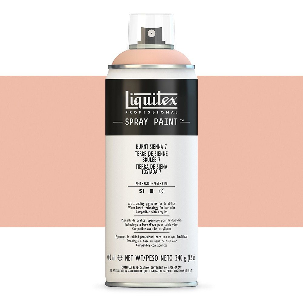 Liquitex : Professional : Spray Paint : 400ml : Burnt Sienna 7 (By Road Parcel Only)