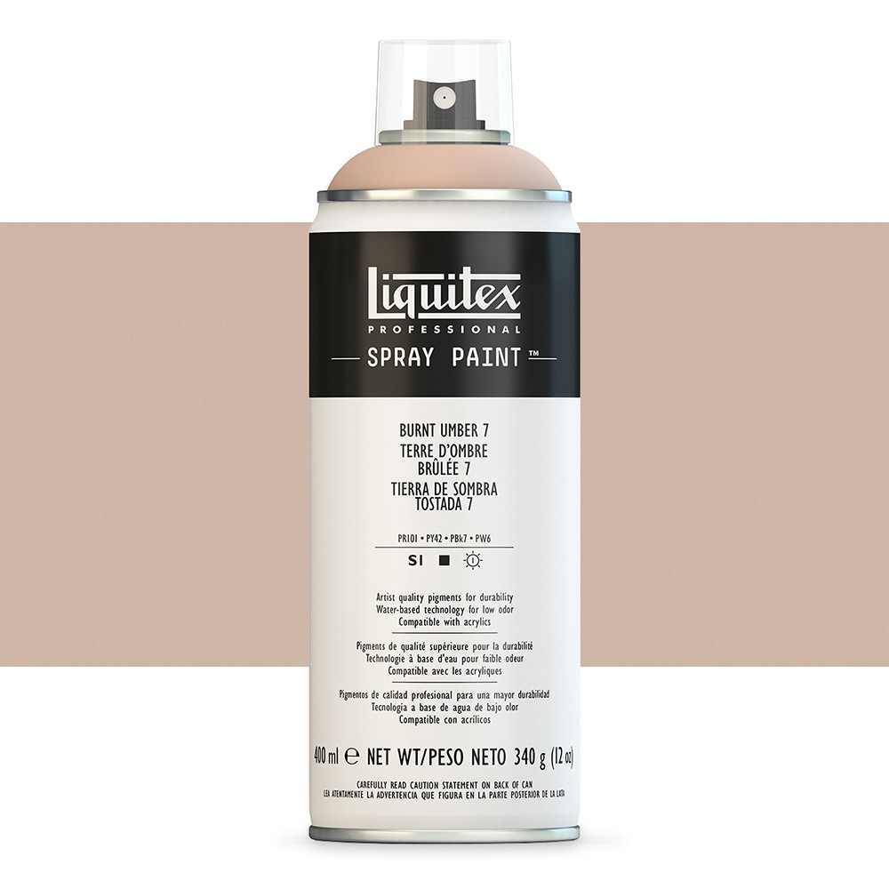 Liquitex : Professional Spray Paint : 400ml : Burnt Umber 7 (Road Shipping Only)