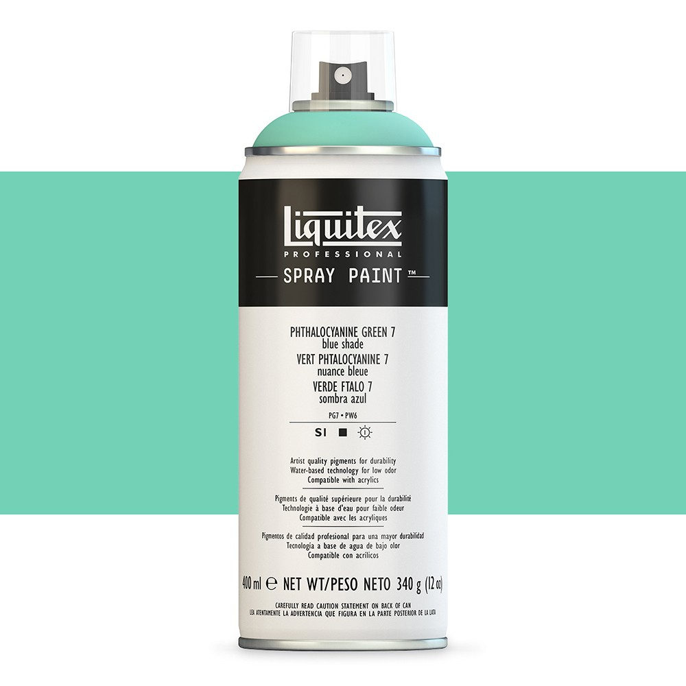Liquitex : Professional : Spray Paint : 400ml : Phthalo Green 7 (Blue Shade) : By Road Parcel Only