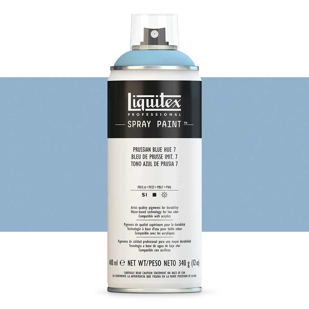 Liquitex : Professional : Spray Paint : 400ml : Prussian Blue Hue 7 (By Road Parcel Only)