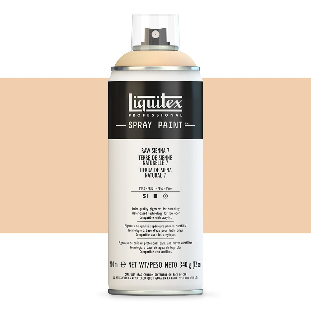 Liquitex : Professional : Spray Paint : 400ml : Raw Sienna 7 (By Road Parcel Only)