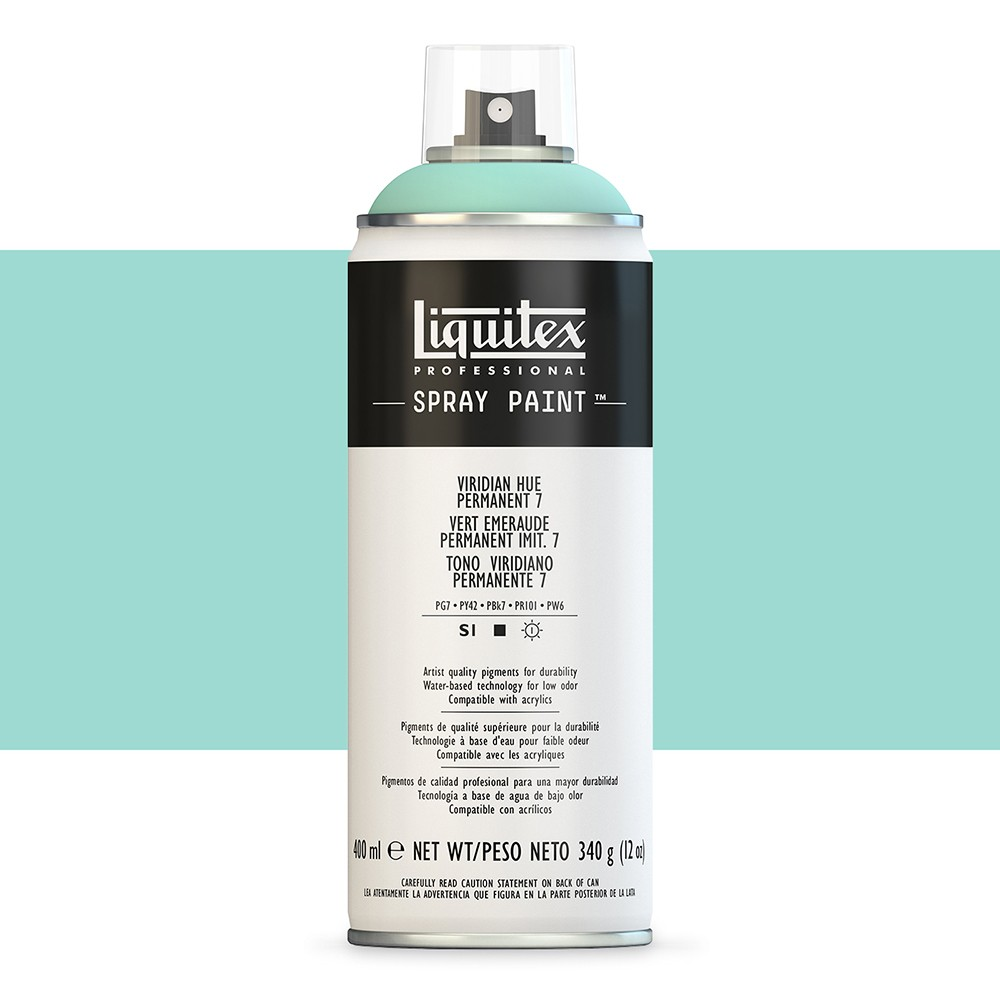 Liquitex : Professional : Spray Paint : 400ml : Viridian Hue Permanent 7 : By Road Parcel Only