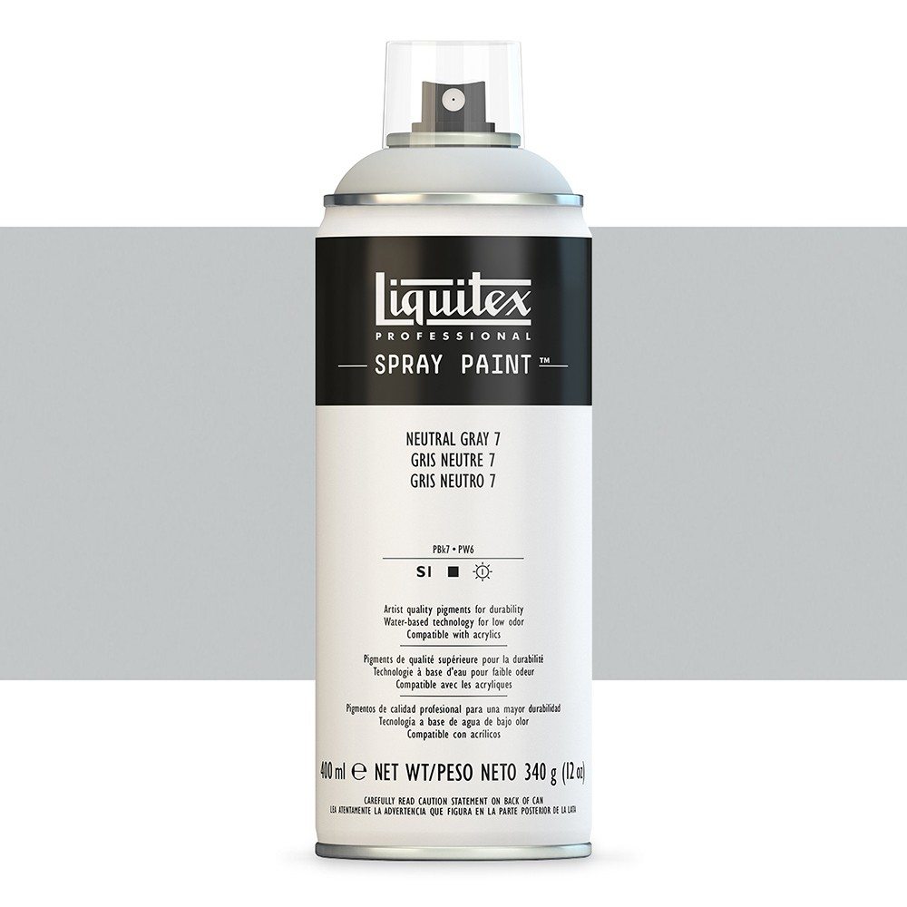 Liquitex : Professional : Spray Paint : 400ml : Neutral Grey 7 (By Road Parcel Only)
