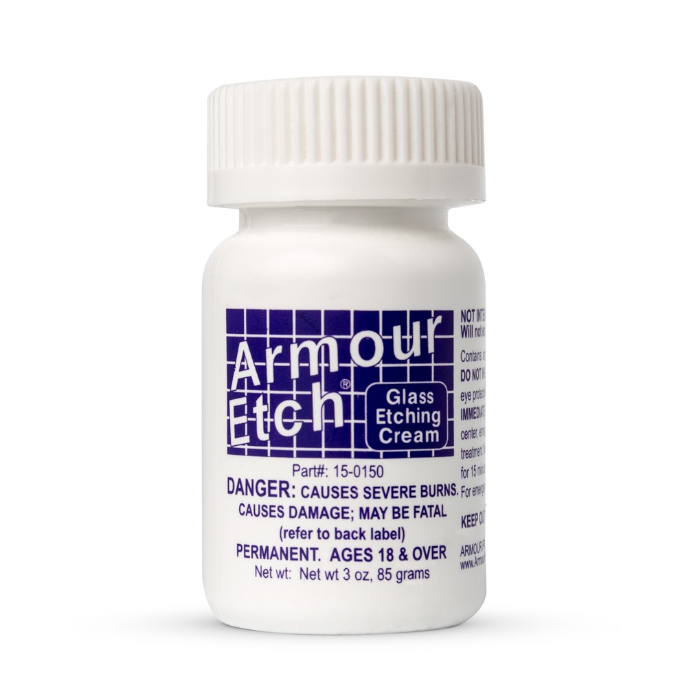 Armour Etch : Glass Etching Cream : 3oz/85g : By Road Parcel Only