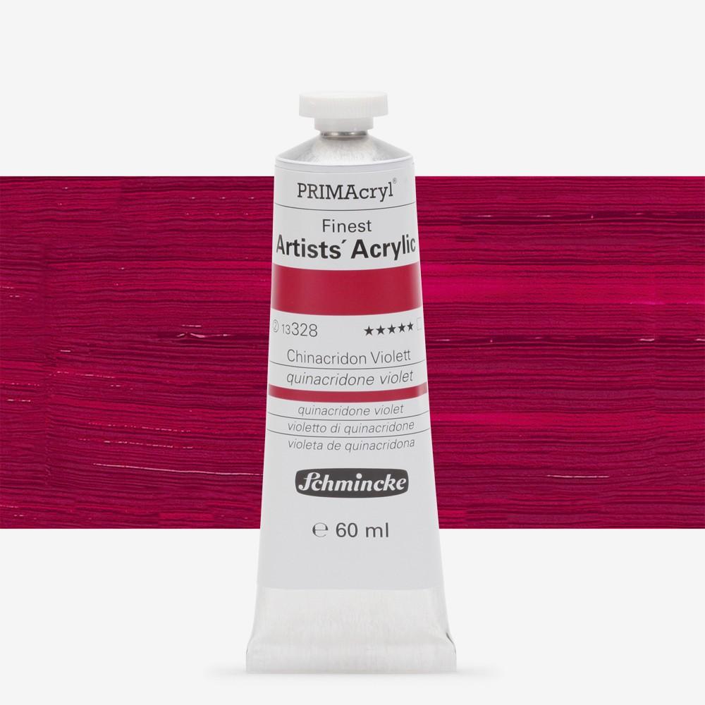 Schmincke : Primacryl Acrylic Paint : 60ml : Quinacridone Violet
