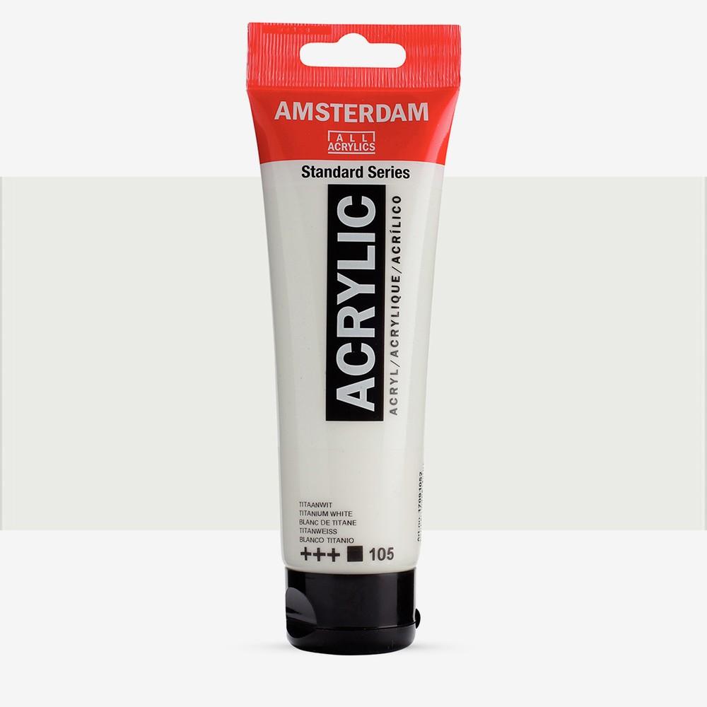 Talens : Amsterdam Standard : Acrylic Paint : 120ml : Titanium White