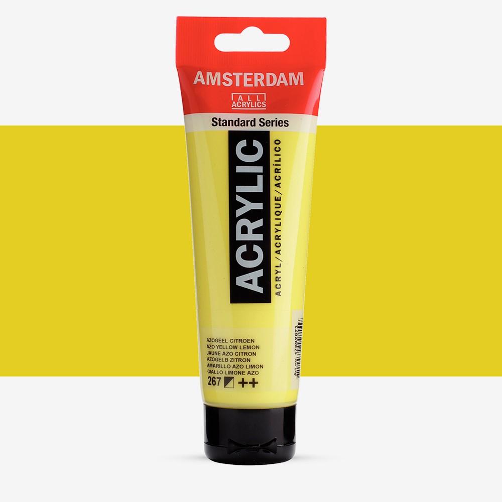 Talens : Amsterdam Standard : Acrylic Paint : 120ml : Azo Yellow Lemon