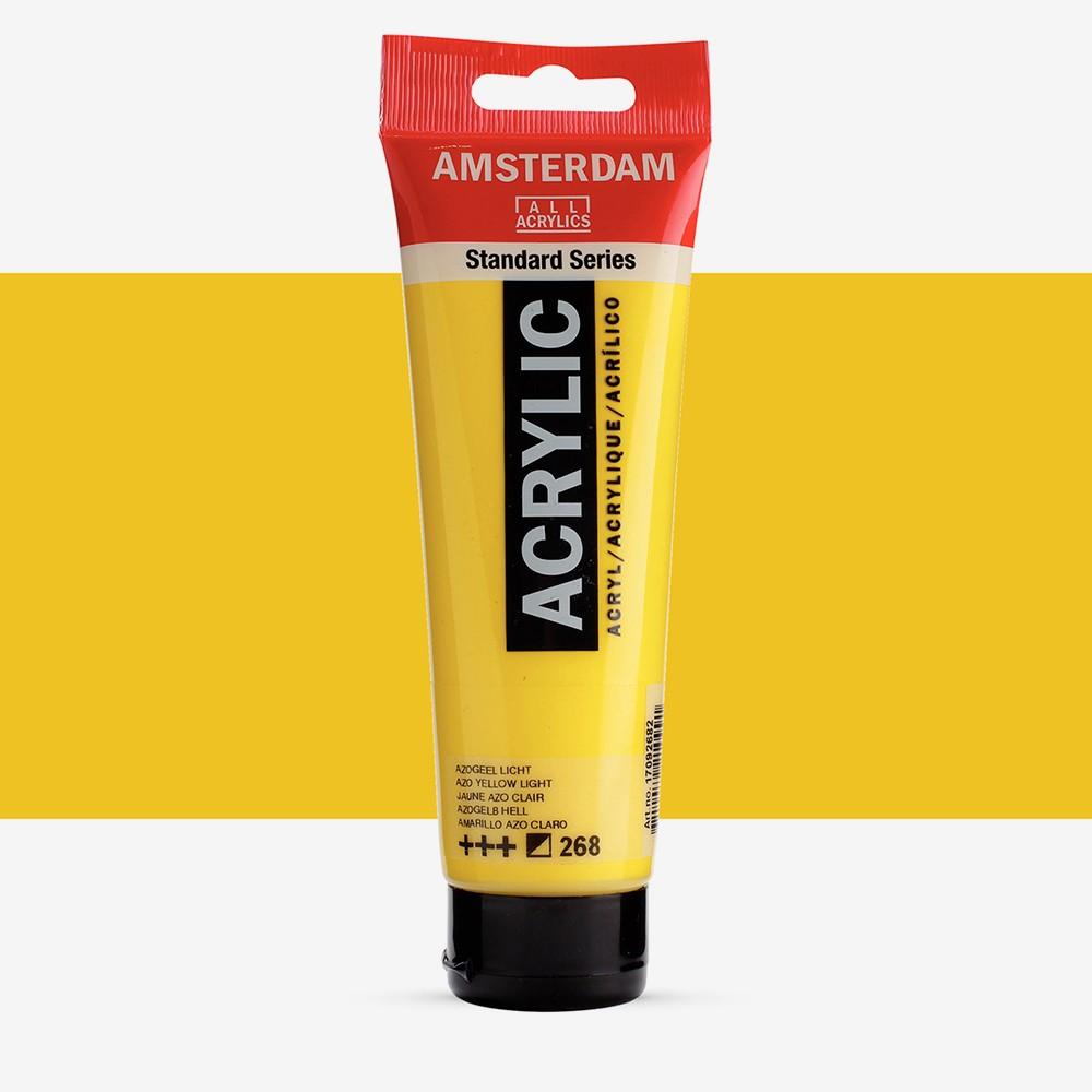Royal Talens : Amsterdam Standard : Acrylic Paint : 120ml : Azo Yellow Light