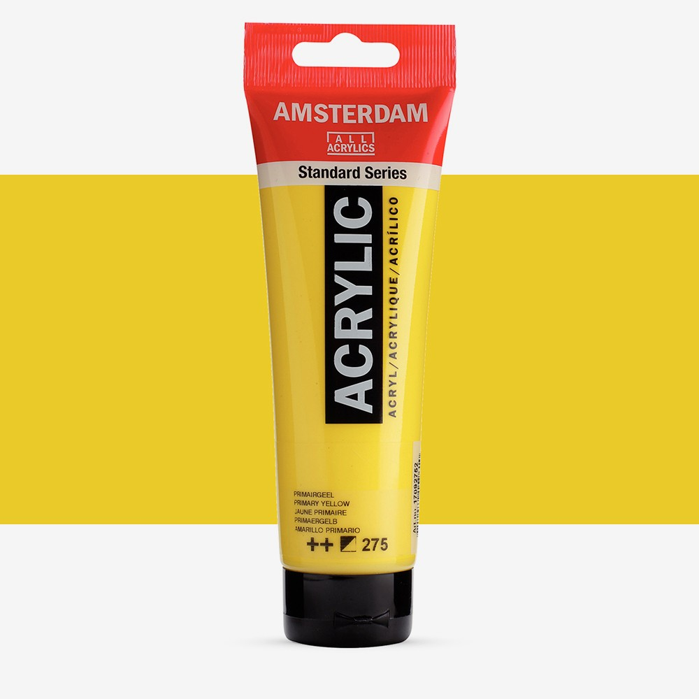 Talens : Amsterdam Standard : Acrylic Paint : 120ml : Primary Yellow