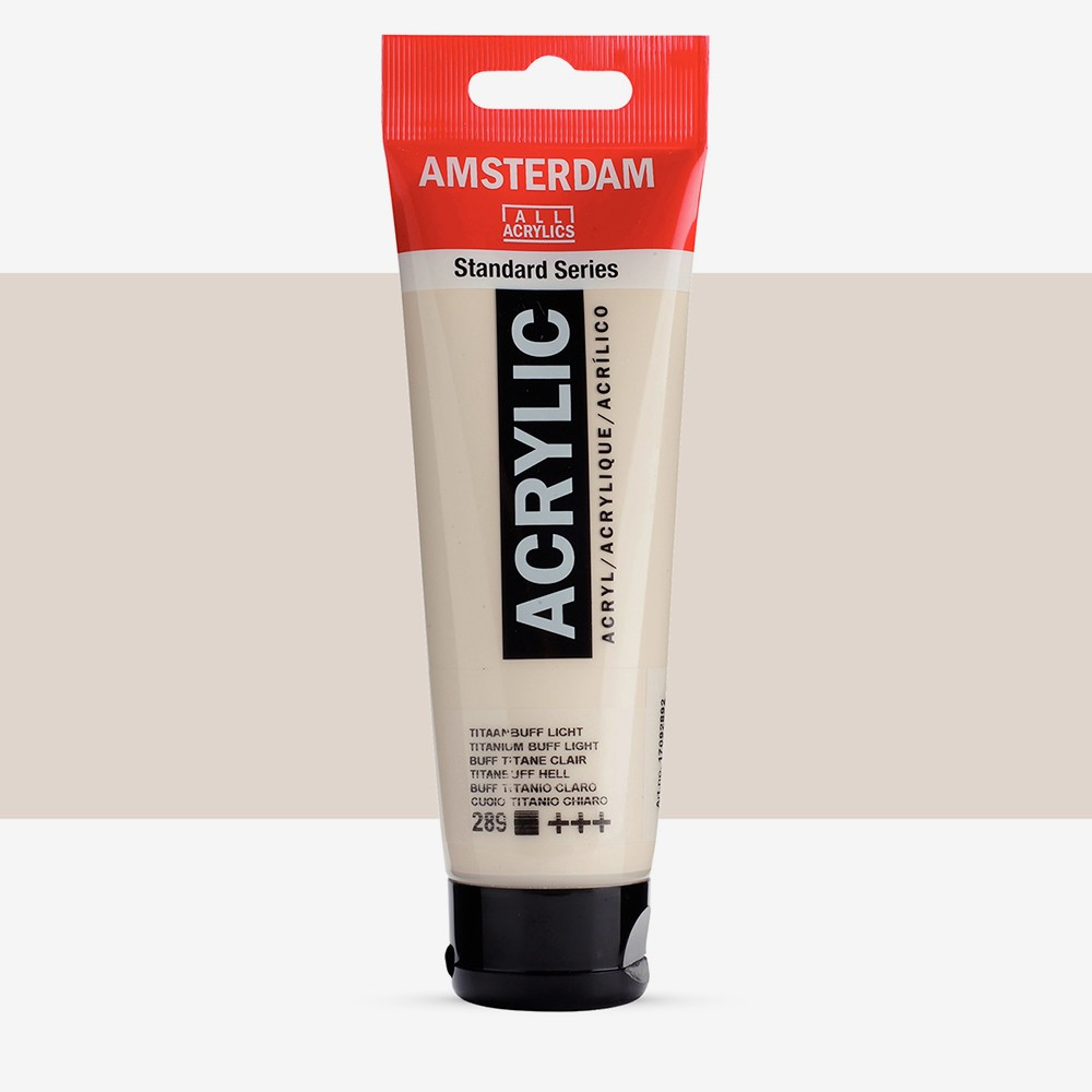 Talens : Amsterdam Standard : Acrylic Paint : 120ml : Titanium Buff Light