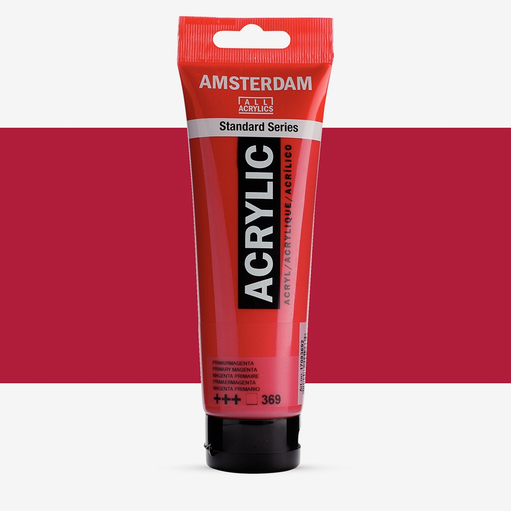 Royal Talens : Amsterdam Standard : Acrylic Paint : 120ml : Primary Magenta