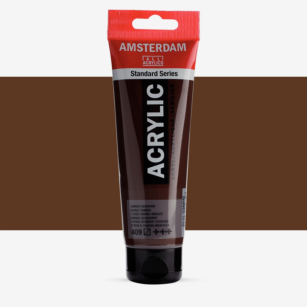 Talens : Amsterdam Standard : Acrylic Paint : 120ml : Burnt Umber
