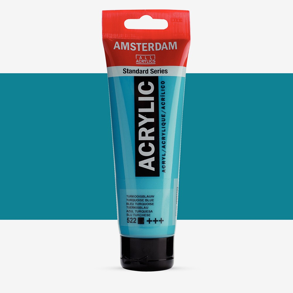 Talens : Amsterdam Standard : Acrylic Paint : 120ml : Turquoise Blue