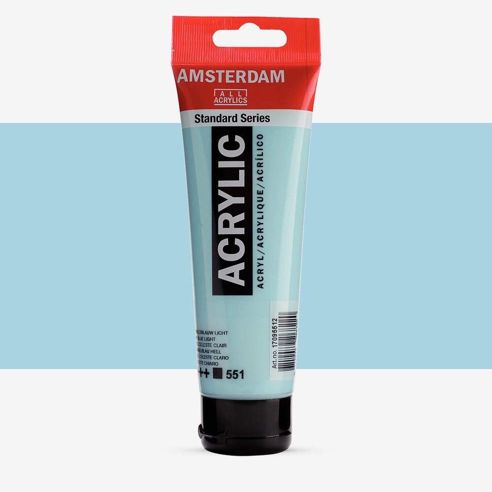 Talens : Amsterdam Standard : Acrylic Paint : 120ml : Sky Blue Light