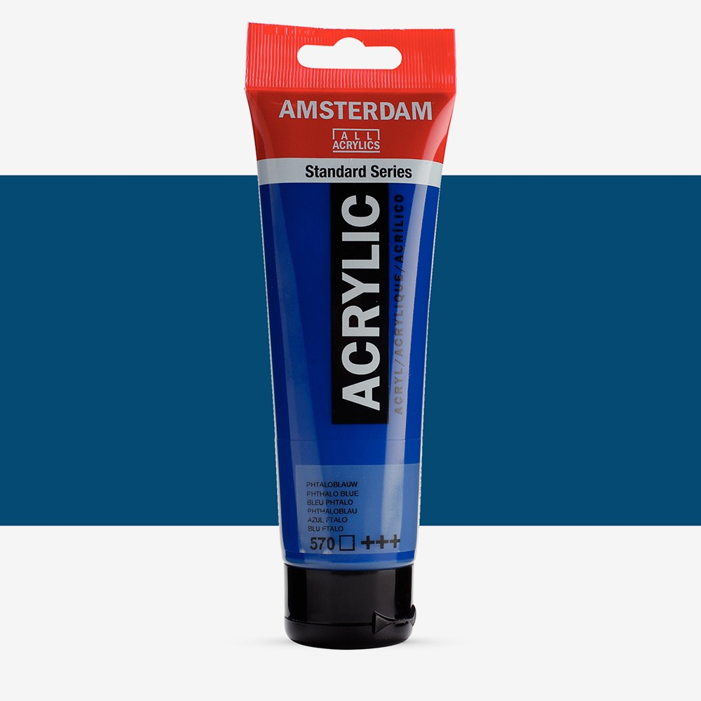 Talens : Amsterdam Standard : Acrylic Paint : 120ml : Phthalo Blue