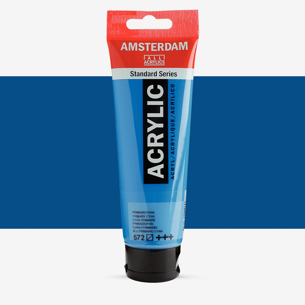 Talens : Amsterdam Standard : Acrylic Paint : 120ml : Primary Cyan