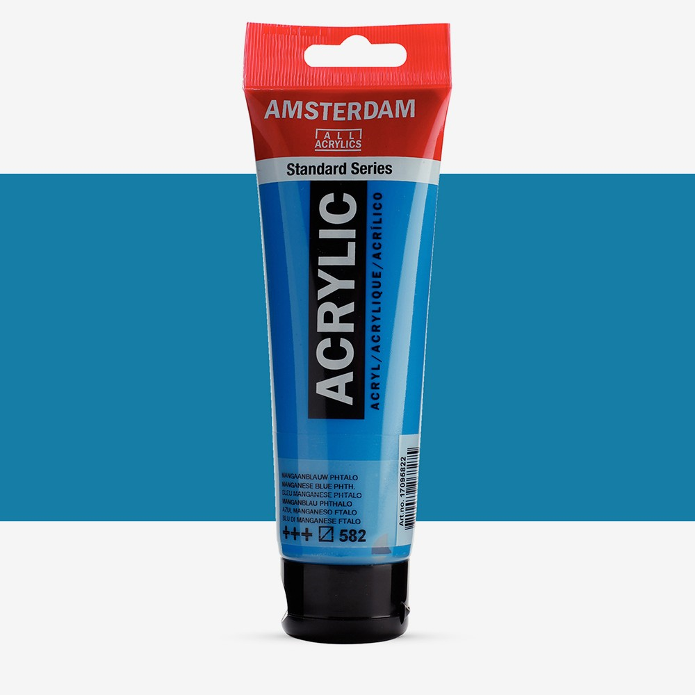 Talens : Amsterdam Standard : Acrylic Paint : 120ml : Manganese Blue Phthalo