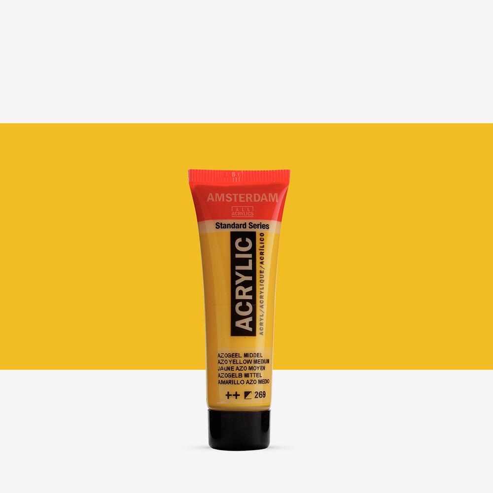 Royal Talens : Amsterdam Standard : Acrylic Paint : 20ml : Azo Yellow Medium