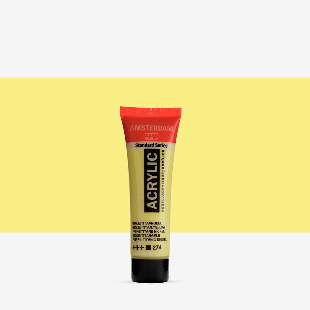 Talens : Amsterdam Standard : Acrylic Paint : 20ml : Nickel Titanium Yellow