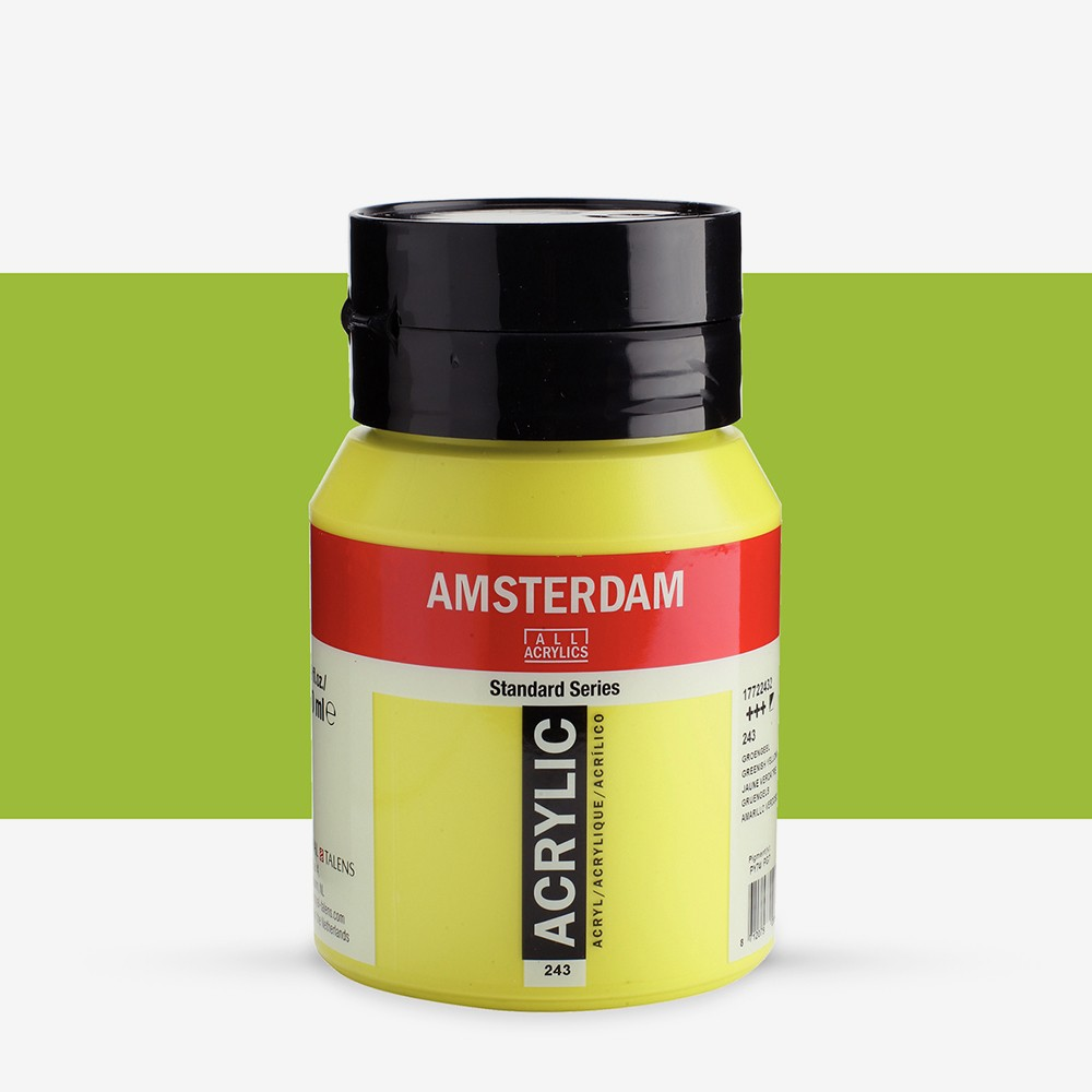 Talens : Amsterdam Standard : Acrylic Paint : 500ml : Greenish Yellow