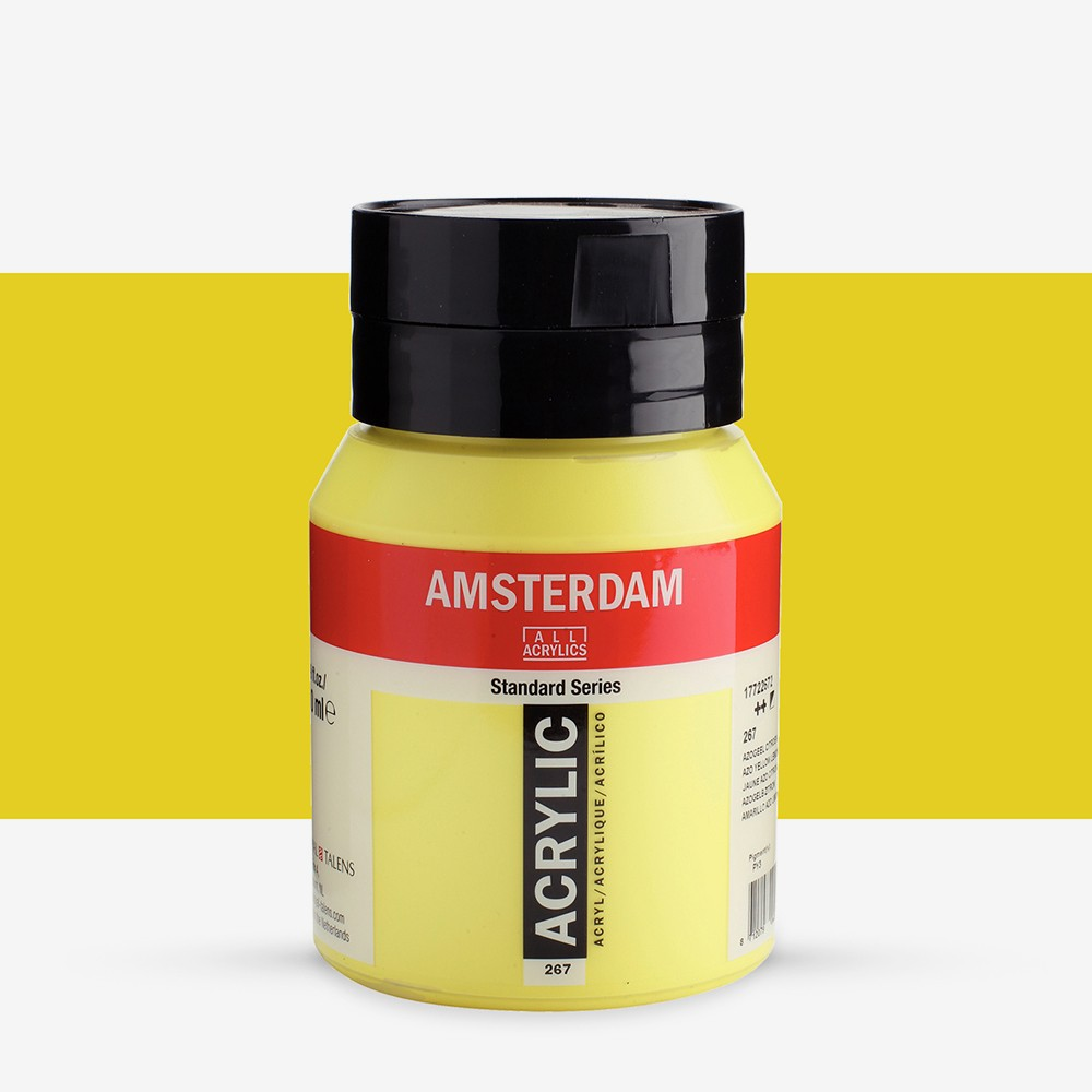 Talens : Amsterdam Standard : Acrylic Paint : 500ml : Azo Yellow Lemon