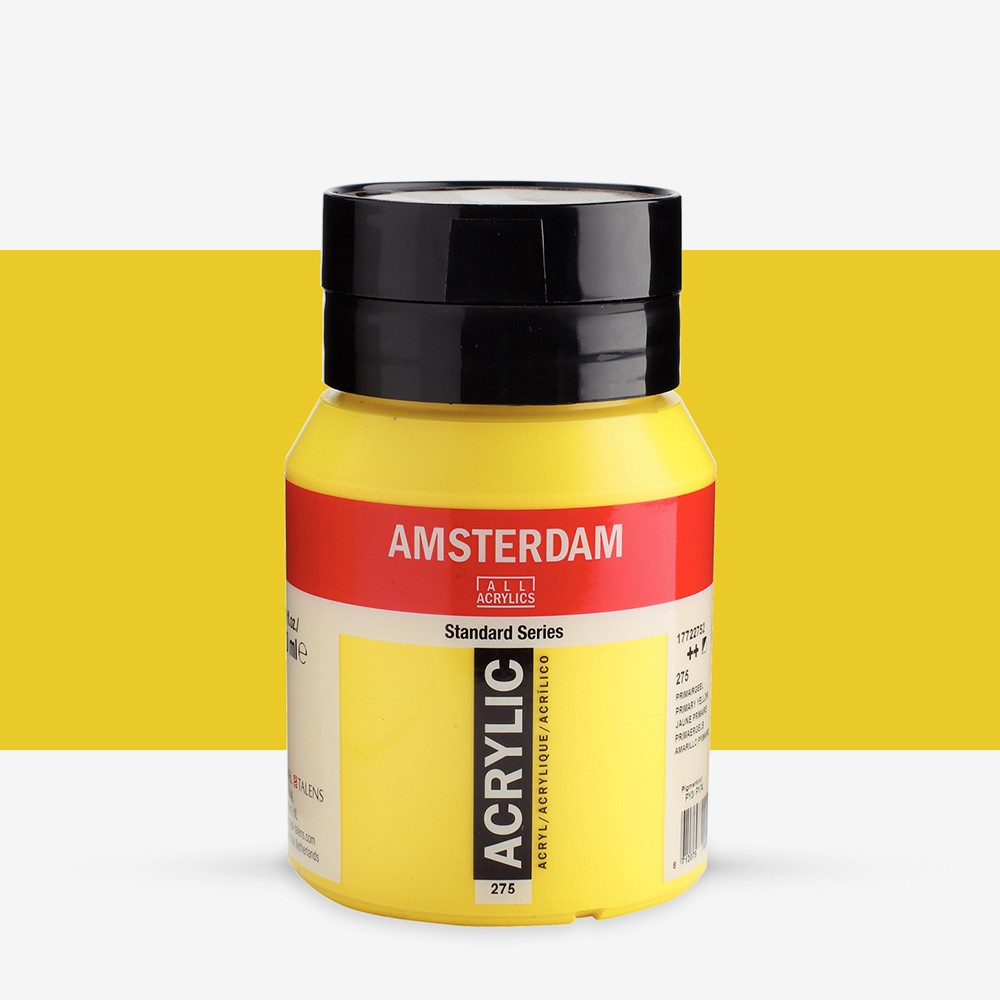 Royal Talens : Amsterdam Standard : Acrylic Paint : 500ml : Primary Yellow