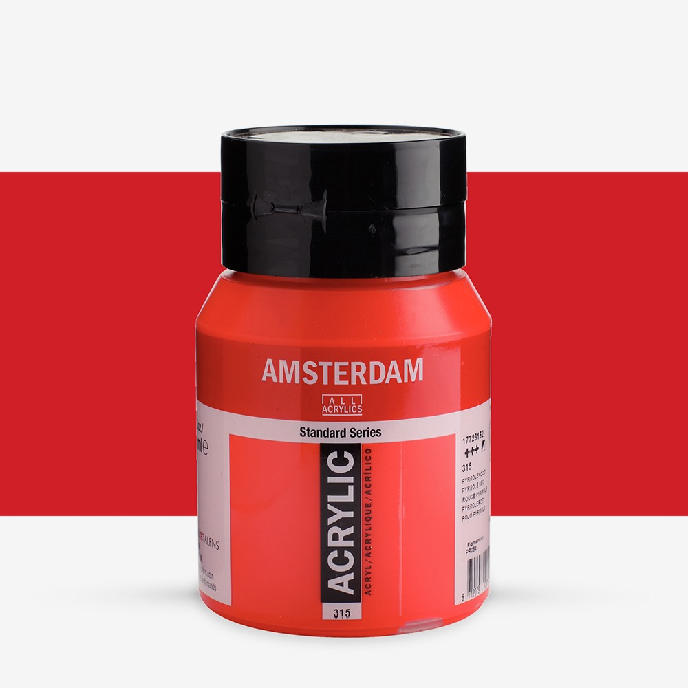 Talens : Amsterdam Standard : Acrylic Paint : 500ml : Pyrrole Red