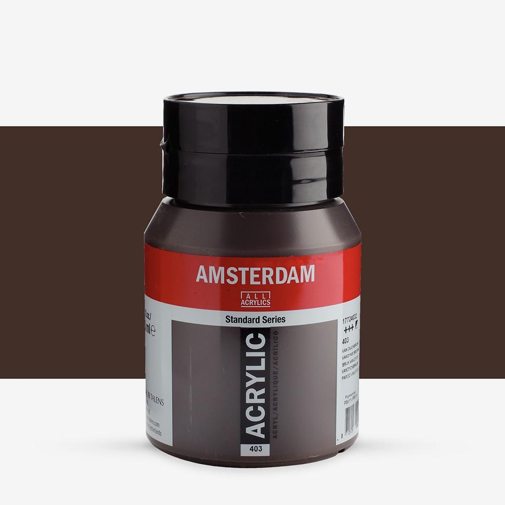 Talens : Amsterdam Standard : Acrylic Paint : 500ml : Vandyke Brown