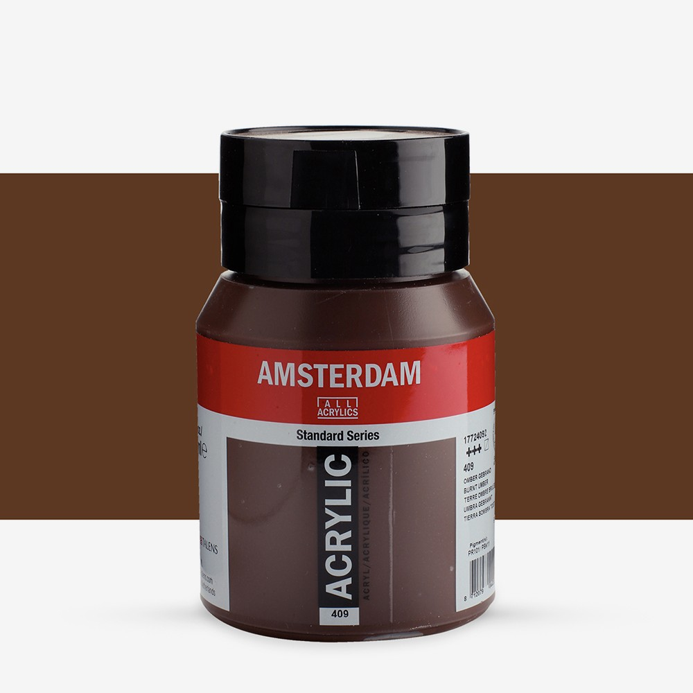 Royal Talens : Amsterdam Standard : Acrylic Paint : 500ml : Burnt Umber