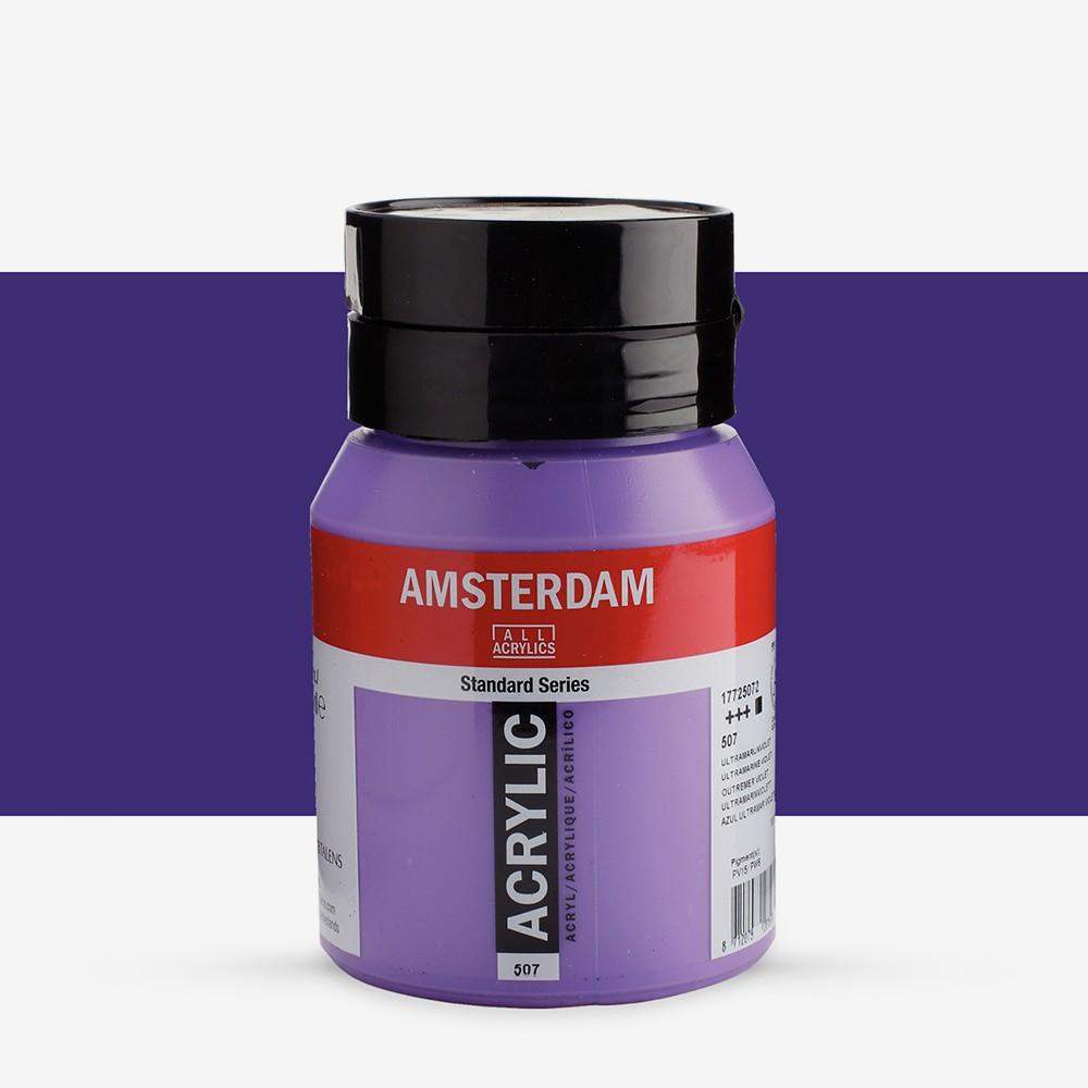 Talens : Amsterdam Standard : Acrylic Paint : 500ml : Ultramarine Violet