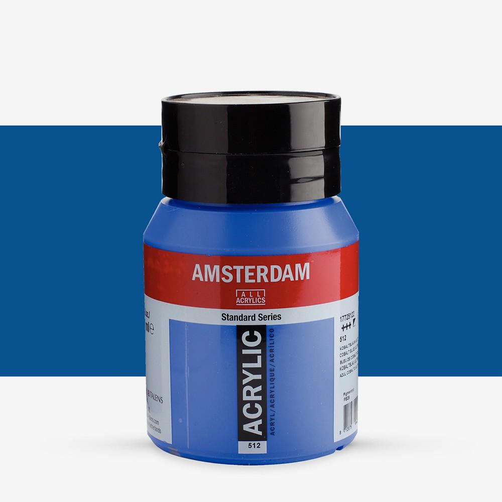Talens : Amsterdam Standard : Acrylic Paint : 500ml : Cobalt Blue Ultramarine