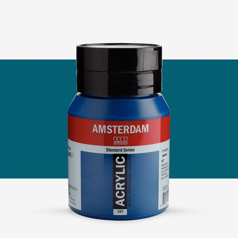 Talens : Amsterdam Standard : Acrylic Paint : 500ml : Greenish Blue
